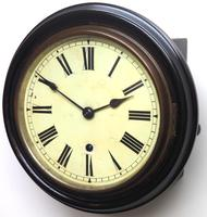 Rare W&H 7 Inch Dial Wall Clock Ebonised Case Dial Clock Station Clock (2 of 12)