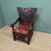 Quality Antique Oak Wainscot Chair (4 of 10)
