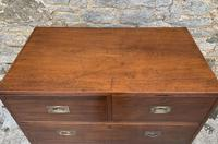 Antique Military Campaign Teak Chest of Drawers (15 of 21)