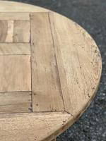 Large Round French Bleached Oak Farmhouse Table with Extensions (27 of 38)