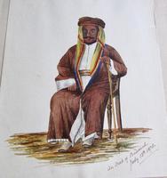 1878 Watercolour of an Arab of Bussorah (basra) (2 of 2)