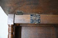 Arts & Crafts Carved Oak Drop Leaf Table (11 of 12)