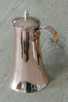 Fine Antique Copper Lidded Coffee Pot Acorn Finial Castellated Seam Georgian (2 of 8)