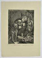 William Hogath original print, The Bruiser, engraved 1763, early 19th century impression (4 of 8)