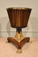 19th Century Dutch Mahogany Ice Bucket on Stand