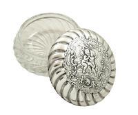 Antique Victorian Sterling Silver 'Cherub' Vanity Jar 1896 (6 of 9)