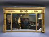 19th Century Gilt Overmantel Mirror (2 of 10)