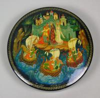 Antique Hand Painted Russian Lidded Box (4 of 9)