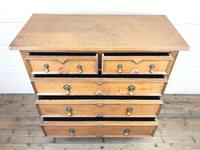 Antique Oak Geometric Chest of Drawers (5 of 9)