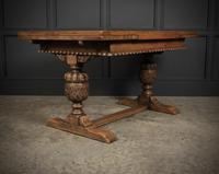Solid Oak Draw Leaf Dining Table (4 of 6)