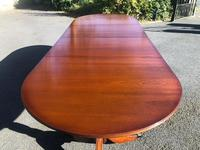 Quality Mahogany Twill Pillar Extending Dining Table (3 of 15)