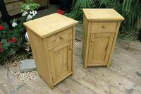 Nice Quality Old Stripped Pine Bedside Cabinets (2 of 9)