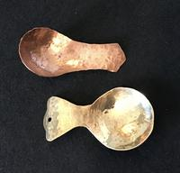 Arts and Crafts Planished Copper and Brass  Tea Caddy Spoons (2 of 3)