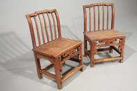 Attractive Pair of Early 20th Century South Chinese Elm Chairs (2 of 3)