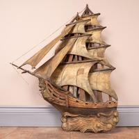Carved Wooden Galleon Model (2 of 9)