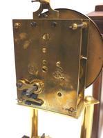 Rare Gustav Becker 400-day Torsion Clock German Mantel Clock Mahogany & Bevelled Glass Case (10 of 13)