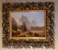 Swiss Alpine scene oil painting (7 of 8)
