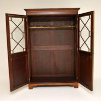 Antique  Inlaid Mahogany Wardrobe (3 of 12)