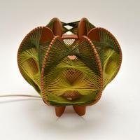Vintage Spun Wool Pendant / Table Lamp (5 of 6)