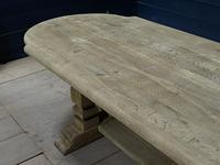 Huge French Bleached Oak Monastery Dining Table (16 of 30)