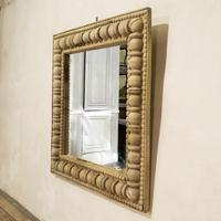 Large Square Late 19th Century French Wall - Overmantle Mirror (11 of 13)