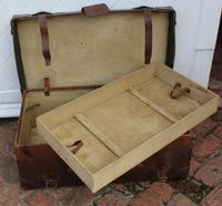 1910's Great Leather Storage Trunk with Cunard White Star Label (2 of 4)