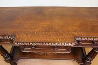 Antique Oak Victorian Shaped Sideboard Server (14 of 15)