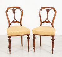 Pretty Pair of Victorian Walnut Chairs (3 of 7)