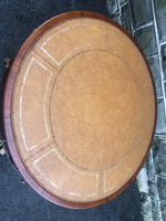 Mahogany Leather Top Drum Table (5 of 9)