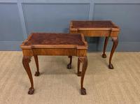 Pair of Burr Walnut Tea Tables (20 of 21)