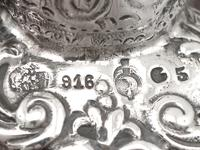 Glass & Spanish Silver Ashtray - Antique c.1890 (6 of 9)