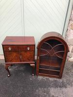 Antique Slim Figured Walnut Bookcase (12 of 12)