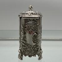 Antique Victorian Sterling Silver Tea Caddy London 1894 George Fox (6 of 12)