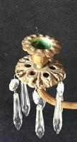 Pair of Good Quality Antique Gilt Brass & Crystal Drop Neo Classical Two Branch Candelabra (8 of 8)
