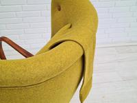 Danish Design, 1960s, Restored-reupholstered High-backed Armchair, Furniture Wool (9 of 13)