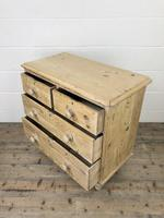 Small Antique Pine Chest of Drawers (8 of 9)
