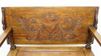 Early 20th Century  Oak Monks Bench (10 of 20)