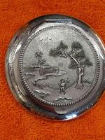 Vintage Solid Silver 0.900 Vietnam MY Ngme Compact with Mirror (3 of 8)