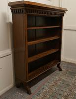 Arts & Crafts Large Golden Oak Open Bookcase (4 of 7)