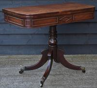 Elegant Regency Mahogany D-end Tea Table c.1820 (2 of 11)