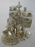 Over Size Victorian Silver Plated Elephant Cruet Set (3 of 8)