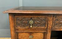Good Carved Oak Pedestal Desk (7 of 18)