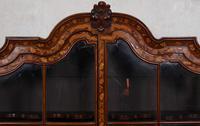 Dutch Bombe Bookcase Vitrine Display Cabinet on Chest Glazed (9 of 17)