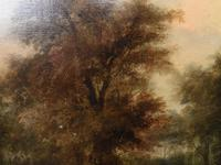 Victorian Oil Painting English Norfolk Landscape Rustic c.1860 Arcadia (14 of 17)
