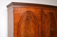 Antique George III Bow Fronted Linen Press (9 of 11)
