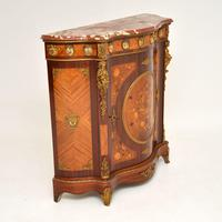 Antique French Inlaid Marquetry  Marble Top Cabinet (10 of 12)