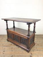 Antique Carved Oak Monk's Bench (9 of 10)