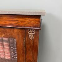 Quality Victorian Rosewood Antique Glazed Display Cabinet / Bookcase (9 of 9)