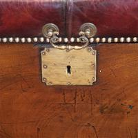 Victorian Leather Camphor Wood Ottoman (7 of 10)