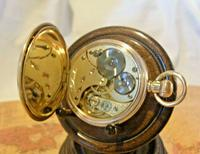 Antique Omega Labrador Pocket Watch 1912 15 Jewel 10ct Rose Gold Filled Case FWO (10 of 12)